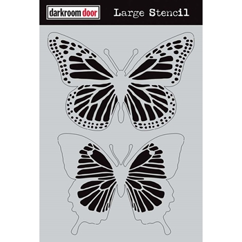 Darkroom Door BUTTERFLIES Large Stencil ddls010