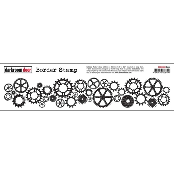 Darkroom Door Cling Stamp COGS Border Rubber UM ddbr008