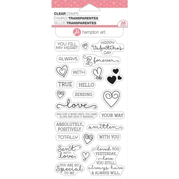 Hampton Art Clear Stamp LOVE WORDS sc0822