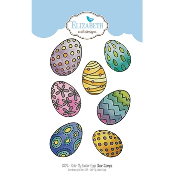 Elizabeth Craft Designs Clear Stamps COLOR MY EASTER EGGS CS093