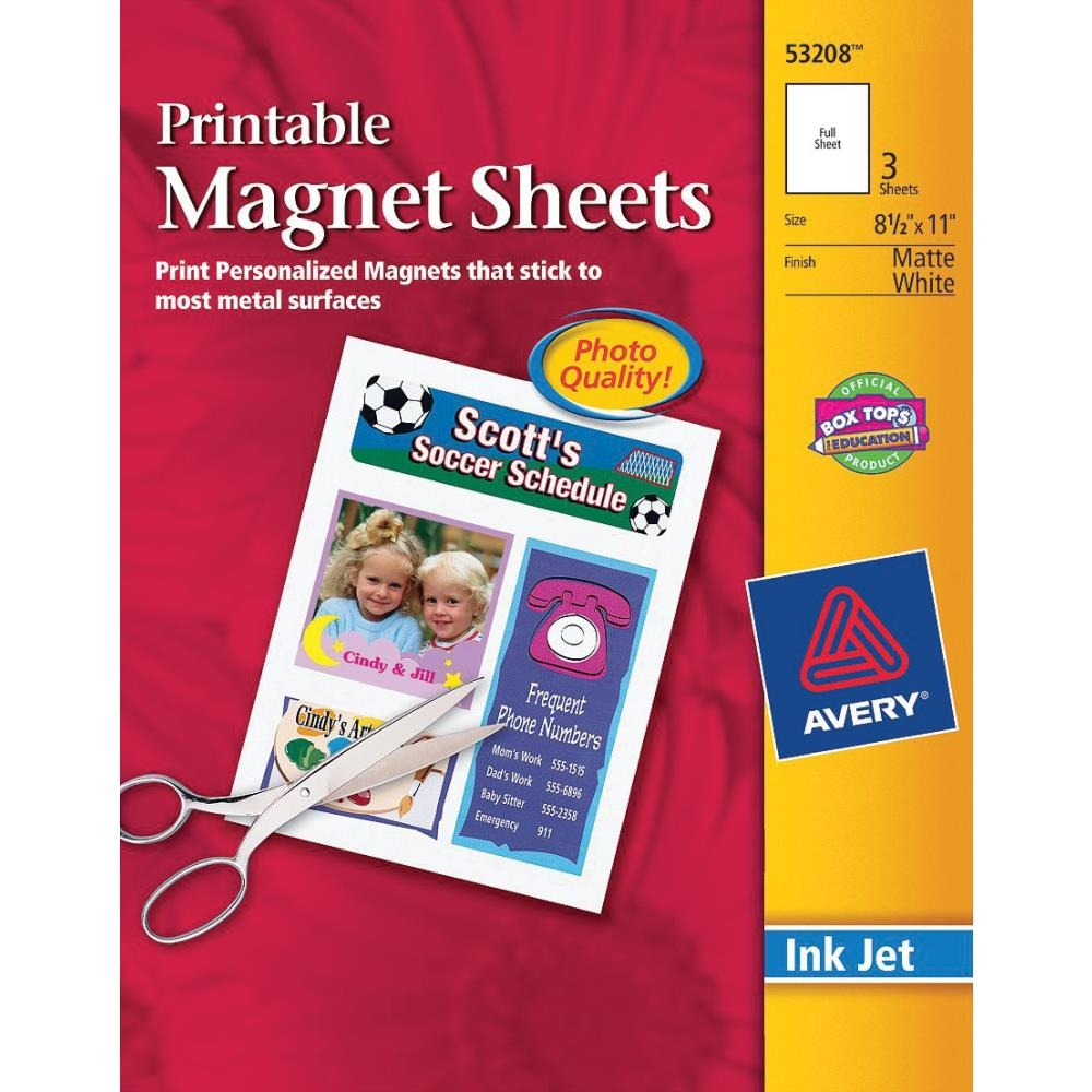 Avery Printable MAGNETIC SHEETS 53208 zoom image