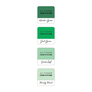 Altenew GREEN MEADOWS Mini Cube Crisp Dye Ink Pad Pack ALT2153