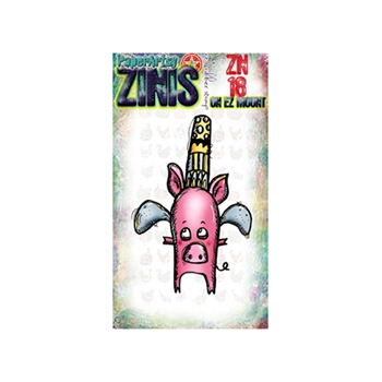 Paper Artsy ZINI 18 Maxi Mini Rubber Cling Stamp ZN18