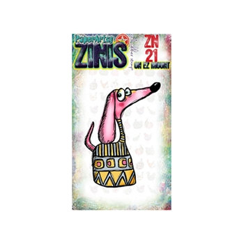 Paper Artsy ZINI 21 Maxi Mini Rubber Cling Stamp ZN21
