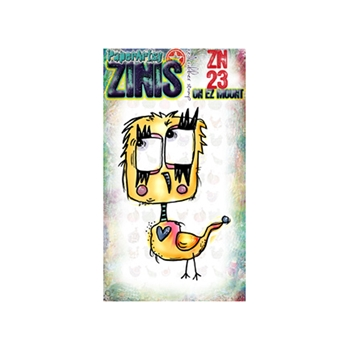 Paper Artsy ZINI 23 Maxi Mini Rubber Cling Stamp ZN23