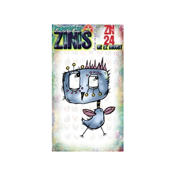 Paper Artsy ZINI 24 Maxi Mini Rubber Cling Stamp ZN24