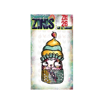 Paper Artsy ZINI 26 Maxi Mini Rubber Cling Stamp ZN26