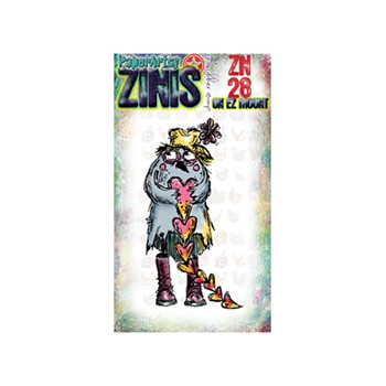 Paper Artsy ZINI 28 Maxi Mini Rubber Cling Stamp ZN28