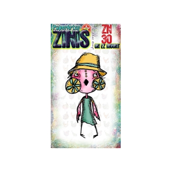 Paper Artsy ZINI 30 Maxi Mini Rubber Cling Stamp ZN30