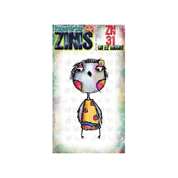 Paper Artsy ZINI 31 Maxi Mini Rubber Cling Stamp ZN31