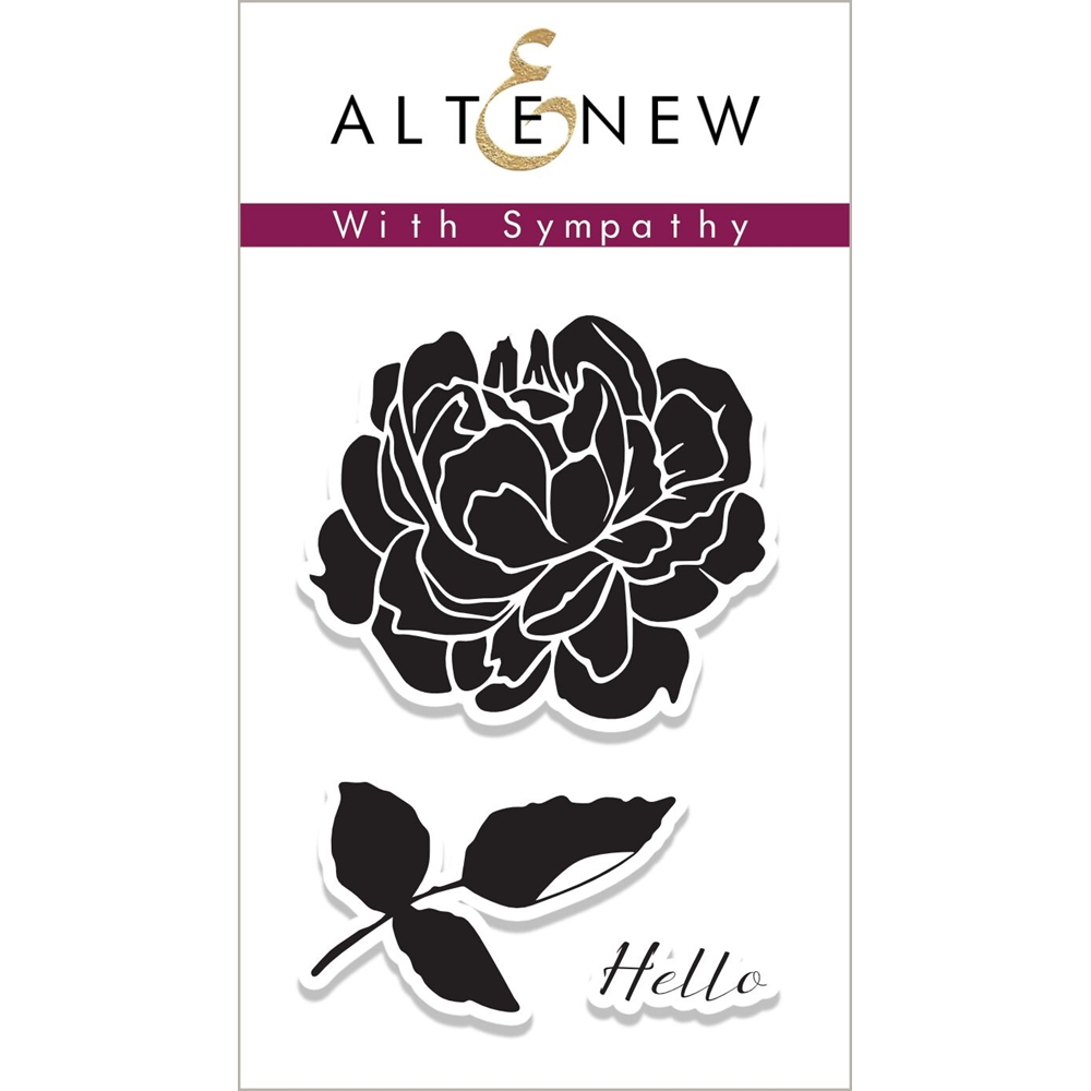 Altenew WITH SYMPATHY Clear Stamp Set ALT2077 zoom image