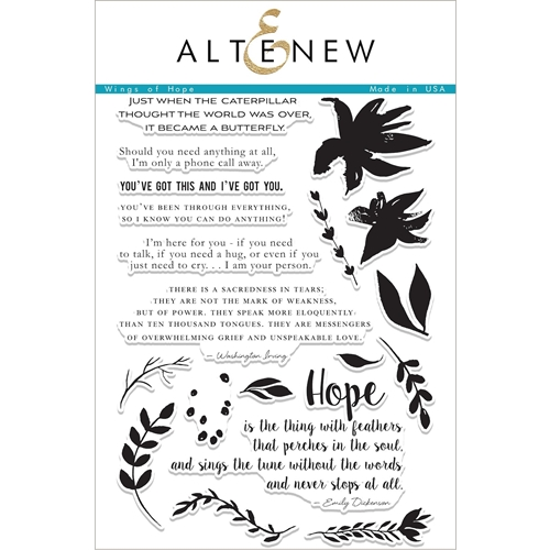 Altenew WINGS OF HOPE Clear Stamp Set ALT2074 Preview Image