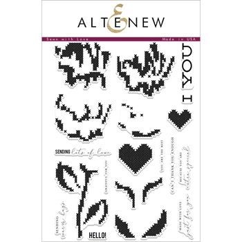 Altenew SEWN WITH LOVE Clear Stamp Set ALT2066