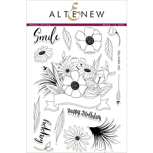Altenew HAPPY BLOOM Clear Stamp Set ALT2060 Preview Image
