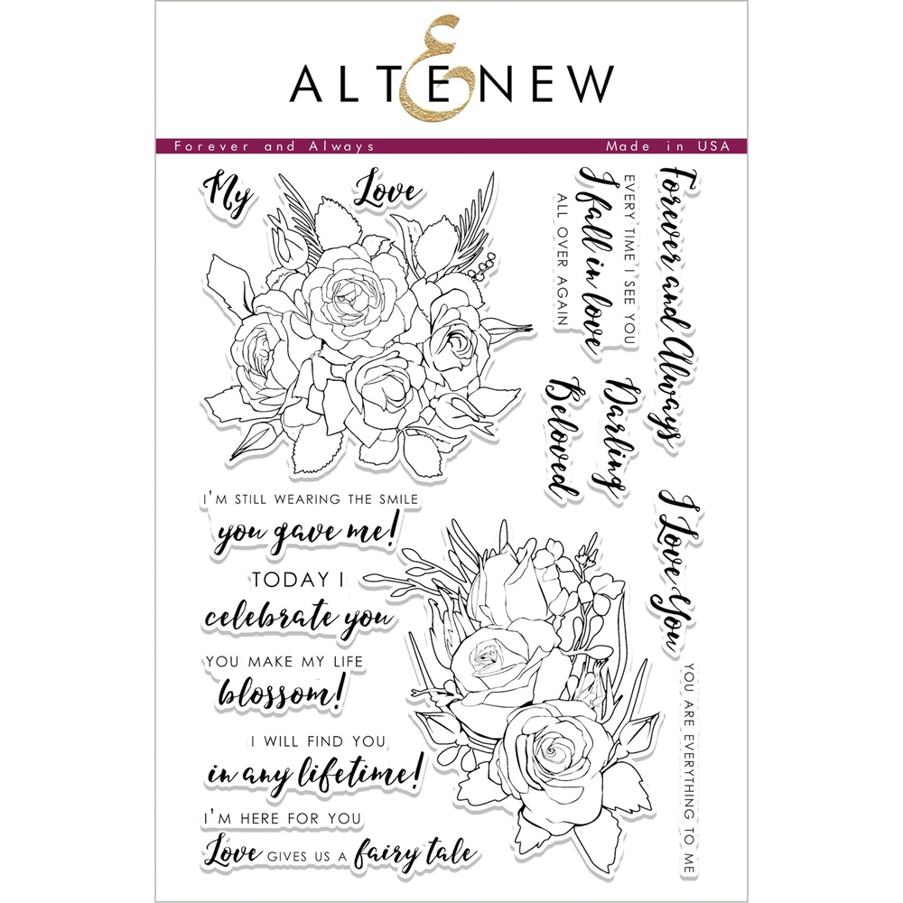 Altenew FOREVER AND ALWAYS Clear Stamp Set ALT2057 zoom image