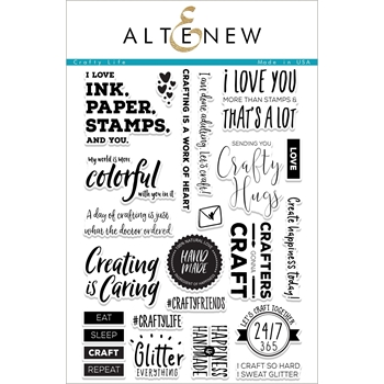 Altenew CRAFTY LIFE Clear Stamp Set ALT2054