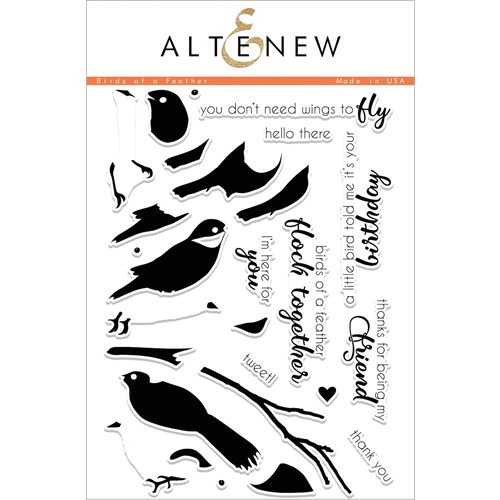 Altenew BIRDS OF A FEATHER Clear Stamp Set ALT2051 Preview Image