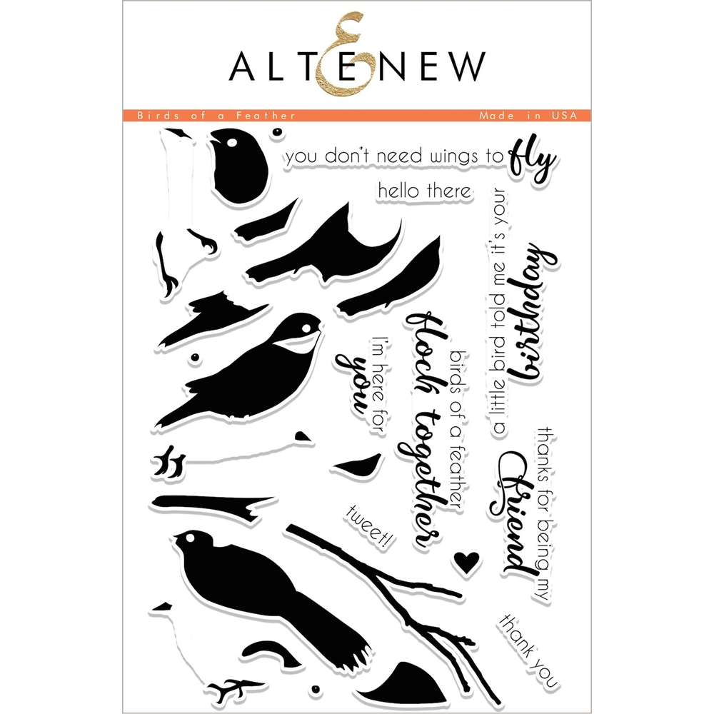 Altenew BIRDS OF A FEATHER Clear Stamp Set ALT2051 zoom image