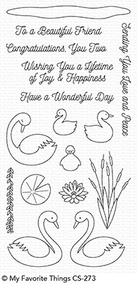 My Favorite Things SPLENDID SWANS Clear Stamps CS273 zoom image