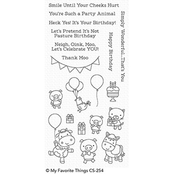 My Favorite Things PARTY ANIMALS Clear Stamps CS254