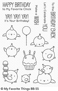 My Favorite Things BIRTHDAY CHICKS Clear Stamps BB55