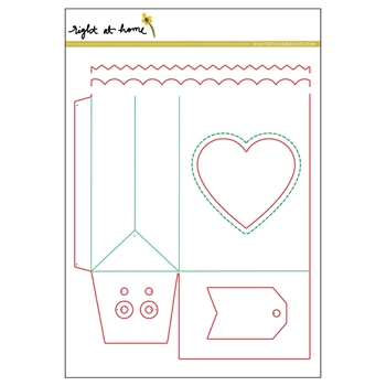 Right At Home FOLDED GIFT BAG Dies 35963