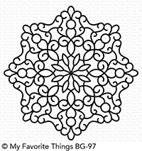 My Favorite Things MAGICAL MANDALA Background Rubber Cling Stamp BG97