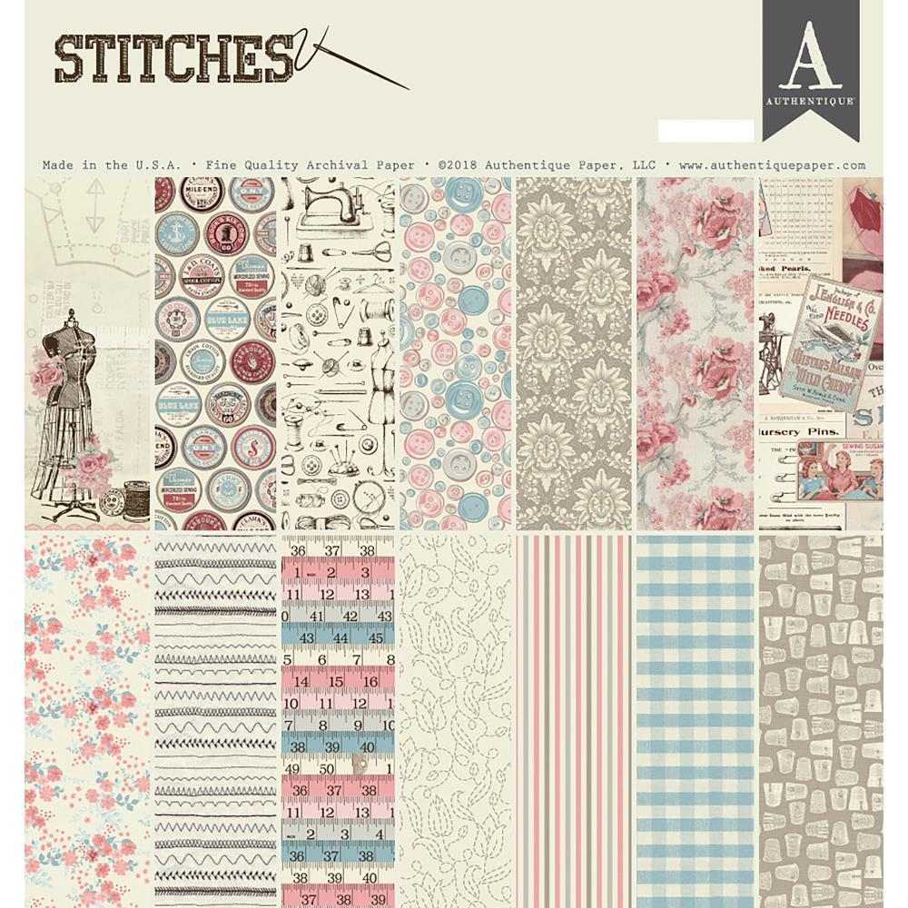 Authentique STITCHES 12 x 12 Collection Kit sti012* zoom image