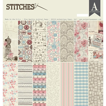 Authentique STITCHES 12 x 12 Paper Pad sti013