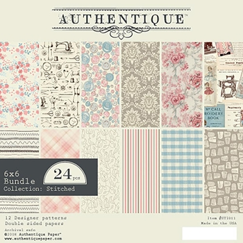 Authentique 6 x 6 STITCHES Paper Pad sti011