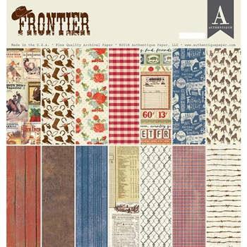 Authentique FRONTIER 12 x 12 Paper Pad fnt013
