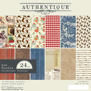 Authentique 6 x 6 FRONTIER Paper Pad fnt011