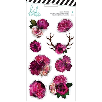 Heidi Swapp HAWTHORNE Clear Floral Stickers 314128