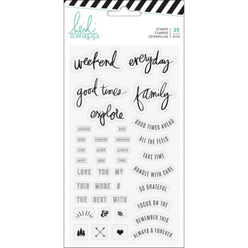 Heidi Swapp HAWTHORNE PHRASE Clear Stamps 314126