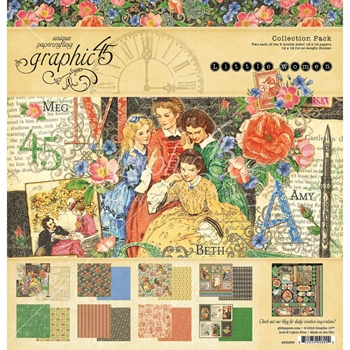 Graphic 45 LITTLE WOMEN 12 x 12 Paper Pad 4501659