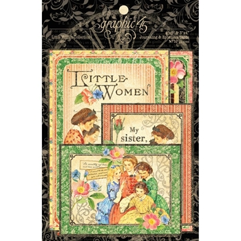 Graphic 45 LITTLE WOMEN Journaling And Ephemera Cards 4501663