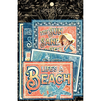 Graphic 45 SUN KISSED Journaling And Ephemera Cards 4501680