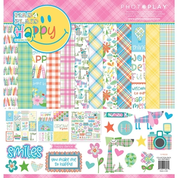 PhotoPlay MAD 4 PLAID HAPPY 12 x 12 Collection Pack mph8853