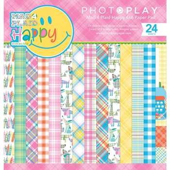 PhotoPlay MAD 4 PLAID HAPPY 6 x 6 Paper Pad mph8856