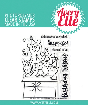 Avery Elle Clear Stamp CRITTER CREW ST-18-10 Preview Image