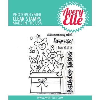 Avery Elle Clear Stamp CRITTER CREW ST-18-10