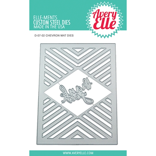 Avery Elle Steel Dies CHEVRON MAT Die Set D-07-02 Preview Image