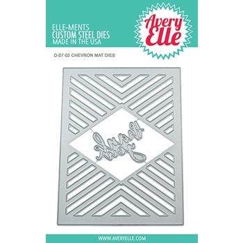 Avery Elle Steel Dies CHEVRON MAT Die Set D-07-02