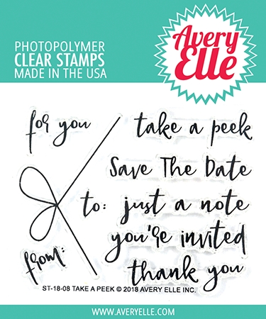 Avery Elle Clear Stamp TAKE A PEEK ST-18-08 Preview Image