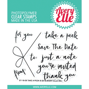 Avery Elle Clear Stamp TAKE A PEEK ST-18-08