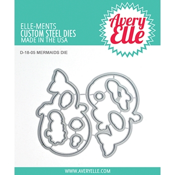 Avery Elle Steel Dies MERMAIDS Die Set D-18-05