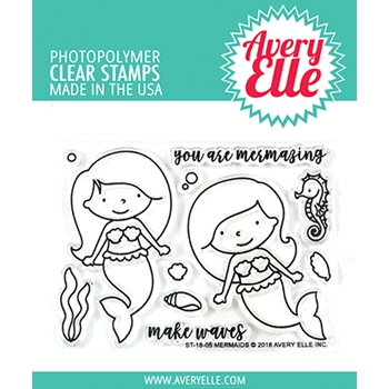 Avery Elle Clear Stamp MERMAIDS ST-18-05