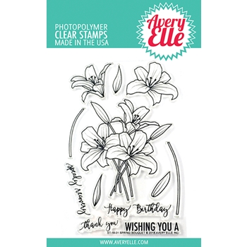 Avery Elle Clear Stamp SPRING BOUQUET ST-18-01