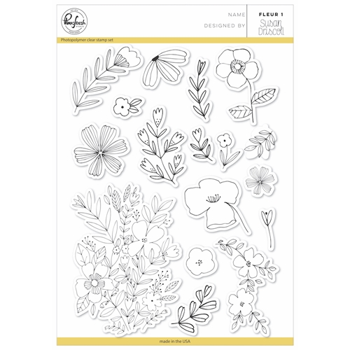 Pink Fresh Studio Fleur 1 Clear Stamp Set