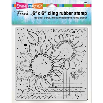 Stampendous Cling Stamp SUNNY SKETCH Rubber UM 6cr004